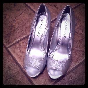 Peep toe Sparkle Heels. Size 7